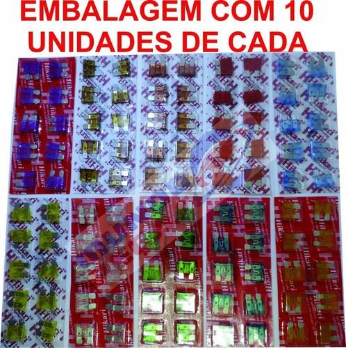 Kit Fusivel De Lamina 10a 15a 20a 25a 30a Kit 100 Peças