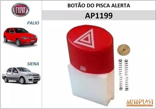 Botão Pisca Alerta Fiat Palio, Siena, Strada 2008 À 2013