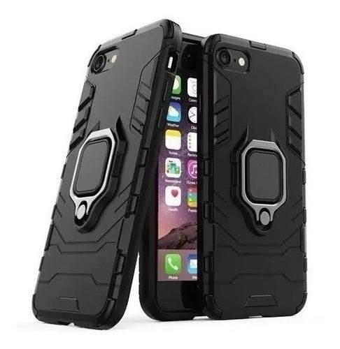 Capa Anti Impacto Suporte Anel 360° iPhone 7/8 Plus Preto