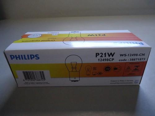 Lâmpada Comum 1 P. P21w Philips 12v 12498 (1141) Caixa C/ 10