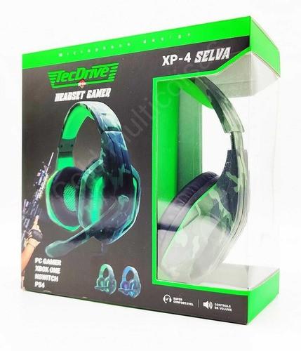 Fone Gamer Tecdrive Headset C/mic Ps4/xboxone/pc Xp-4 Selva