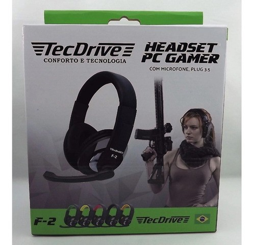 Fone Gamer Tecdrive Headset C/microfone Ps4/ Xbox One/pc F-2