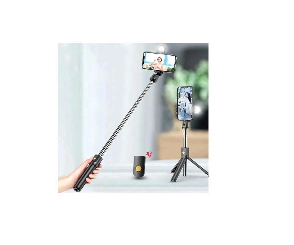 Bastão Selfie Tripé Bluetooth C/ Controle P/ Celular e Go Pro