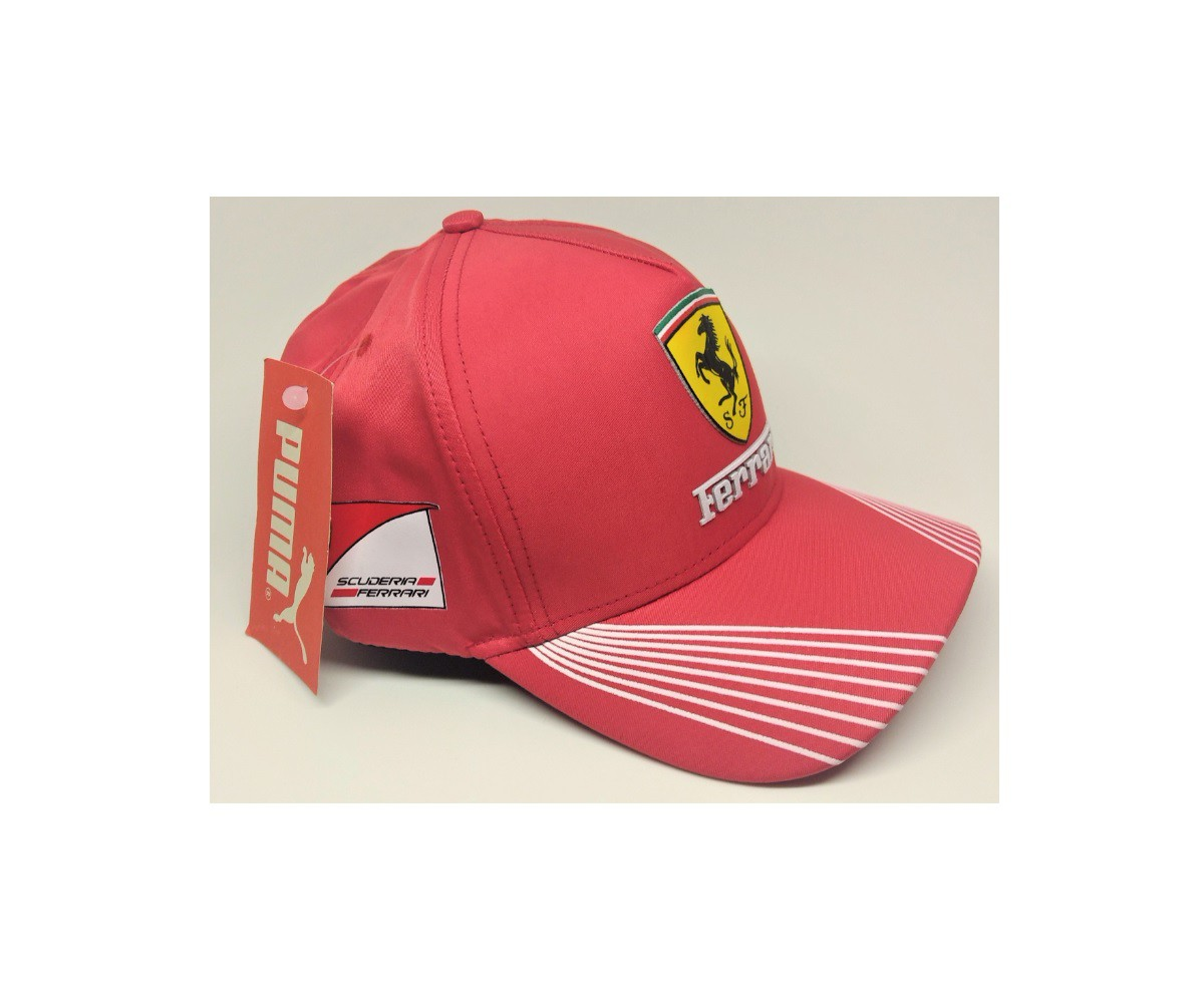 Boné Aba Curva F1 Ferrari Scuderia Vermelho Com Ajuste