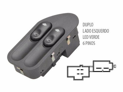 Botão Interruptor Vidro Eletrico Duplo Dianteiro Ford
