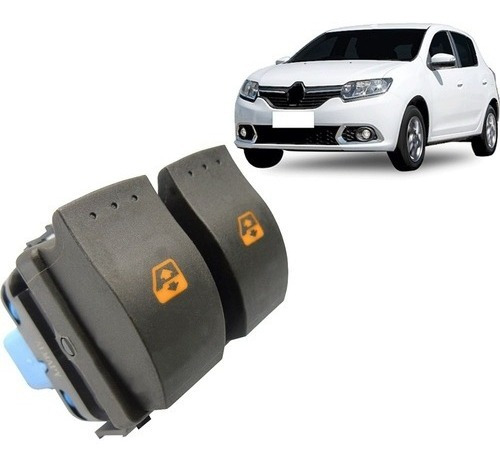 Botão Renault Interruptor Vidro Elétrico Sandero Duster Dupl