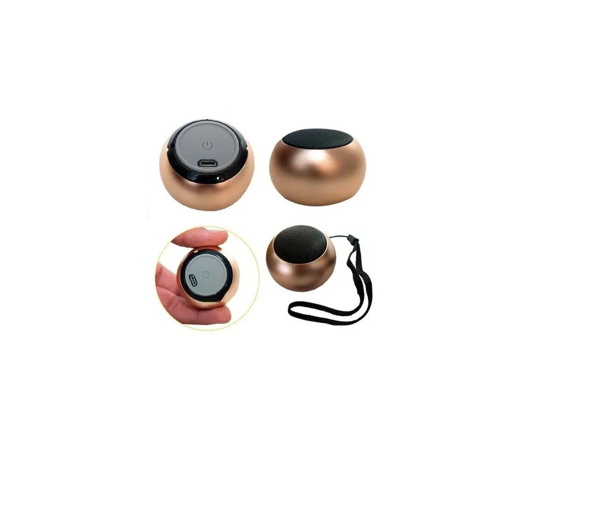 Caixinha Som Bluetooth Metal Mini Speaker Amplificada 3w Cor Azul