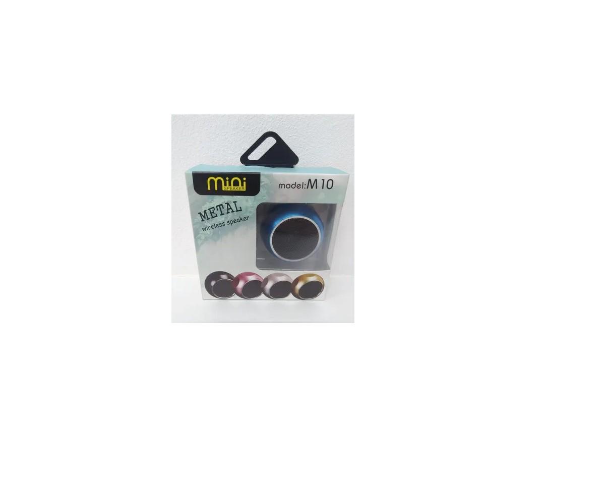 Caixinha Som Bluetooth Metal Mini Speaker Amplificada 3w Cor Dourado