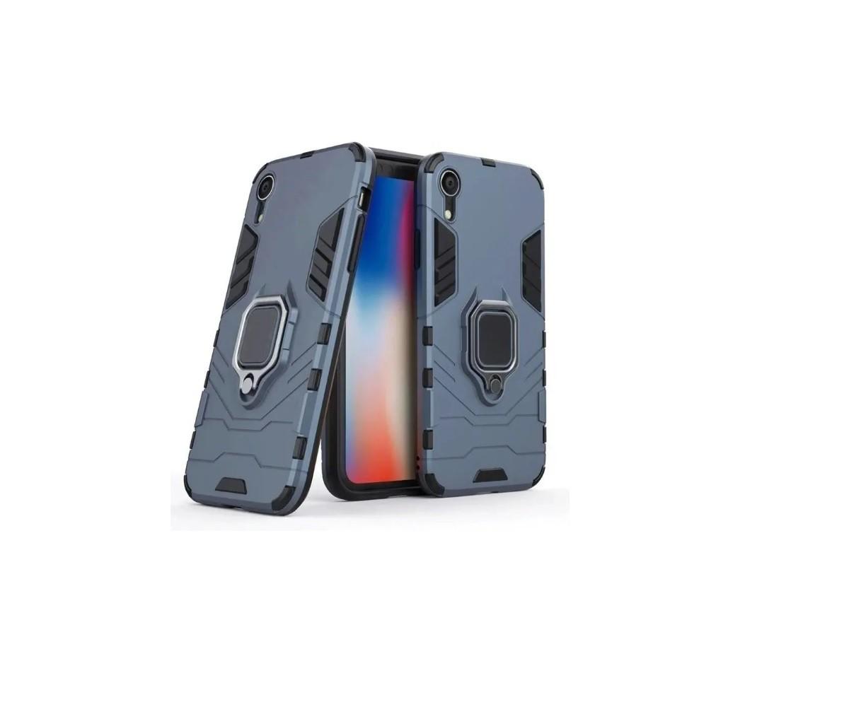 Capa Anti Impacto Suporte Anel 360° iPhone 7/8 Plus Azul