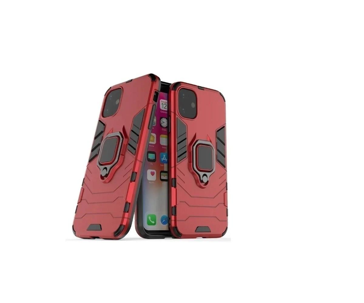 Capa Anti Impacto Suporte Anel 360° iPhone 7/8 Plus Vermelha