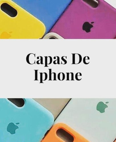 Capa Capinha Silicone C/ Logo Apple iPhone XR