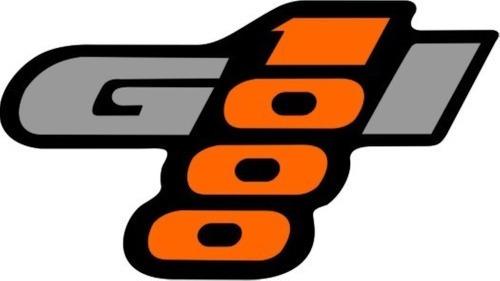 Emblema Gol 1000 Vw Cinza E Laranja