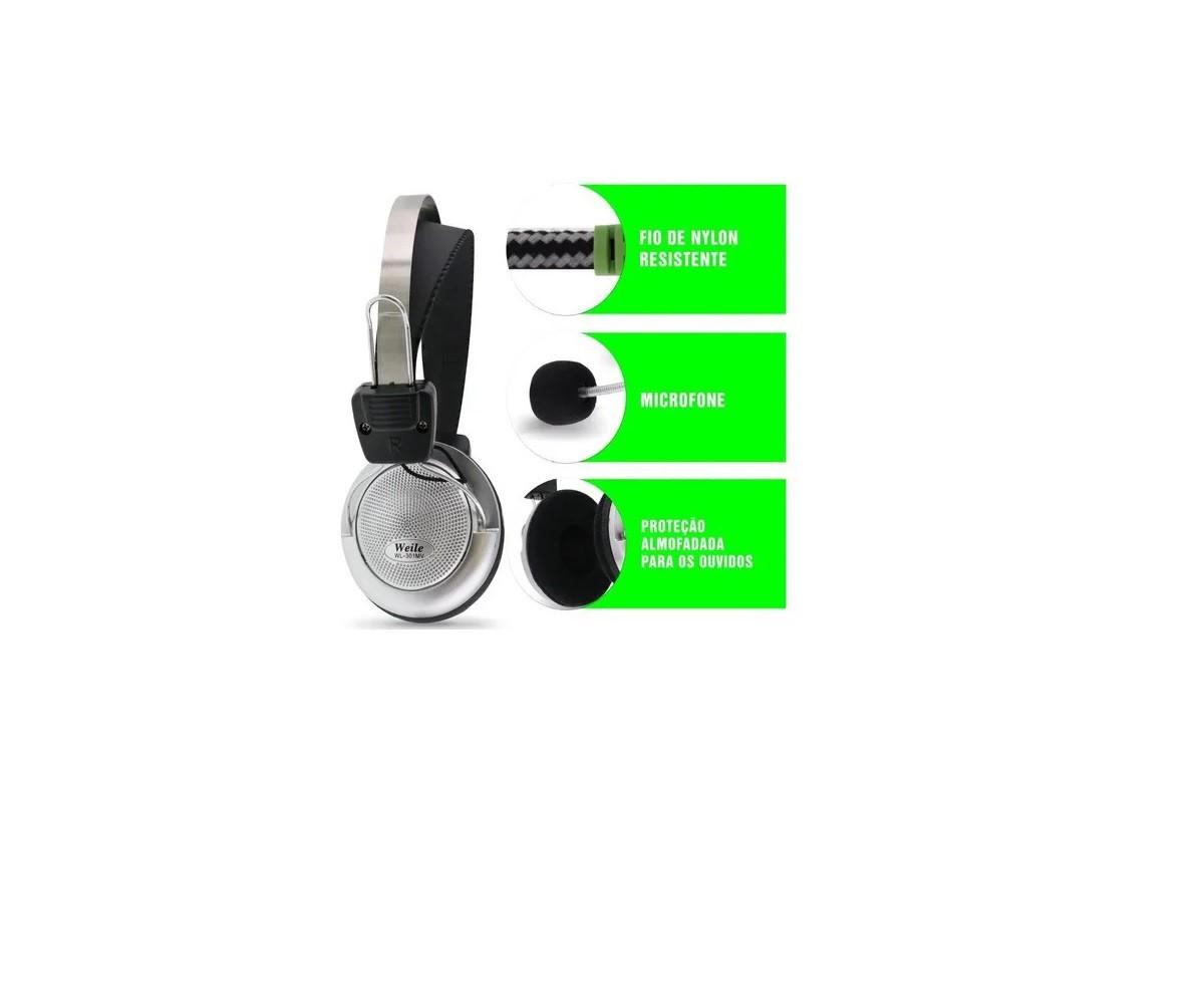 Fone Gamer Weile Headset C/microfone Ps4 / Xbox One/pc 301mv
