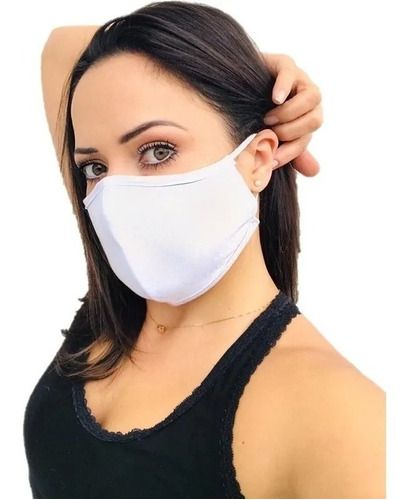Kit 3 Máscaras Proteção Reutilizável Tecido Duplo Algodão