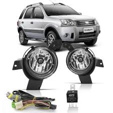 KIT FAROL AUXILIAR 2 FAROIS,CHICOTE,RELE INTERRUPTOR COM LED ECOSPORT 2008/2011 ORGUS