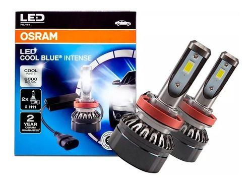 Kit Lâmpada Led Ledriving H11 6000k 25w Duo Cool Blue Inten