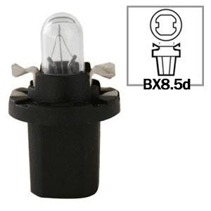 LAMPADA CONVENCIONAL 12V 12V 1,2W B8.5D PRETA MINIATURA BASE PLASTICA T5 UNIVERSAL HELLA