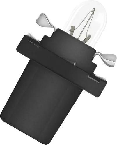 LAMPADA CONVENCIONAL  12V 1,2W BX8.4D PRETA MINIATURA BASE PLASTICA T5 UNIVERSAL HELLA