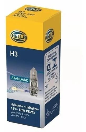 LAMPADA CONVENCIONAL  12V 55W PK22S FAROL H3 UNIVERSAL HELLA