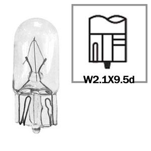 LAMPADA CONVENCIONAL 12V ESMAGADA 3W BASE VIDRO T10