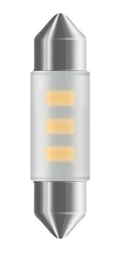 PAR LAMPADAS LED 12V BRANCA 41MM 1W SUBSTITUI ORIGINAL TORPEDO OSRAM