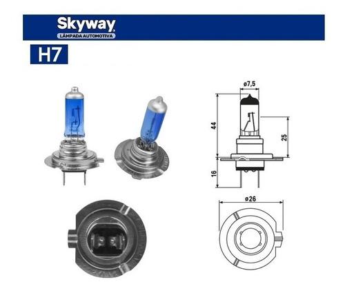 Lâmpadas Super Branca H7 4200k 70w 24v Azulada