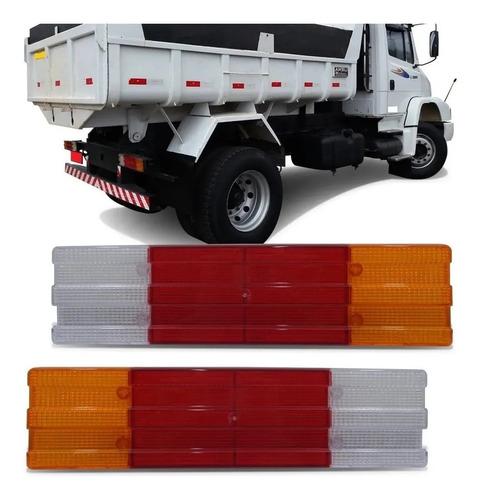 Lente Lanterna Traseira Borda Reforçada Caminhões 88 Unidade