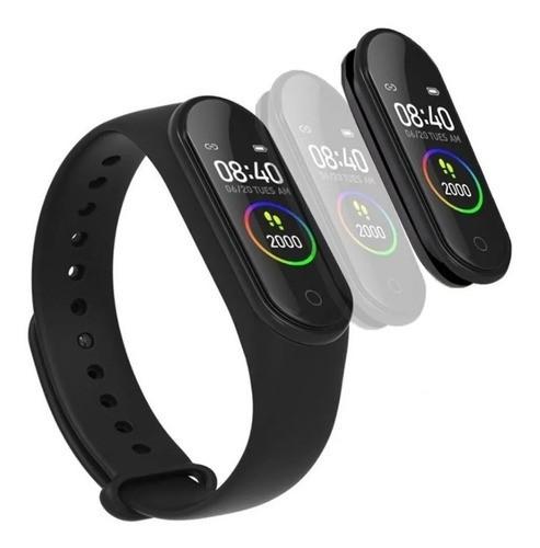 Relógio Smart Bracelet Pulseira Inteligente Fitness M4 Azul