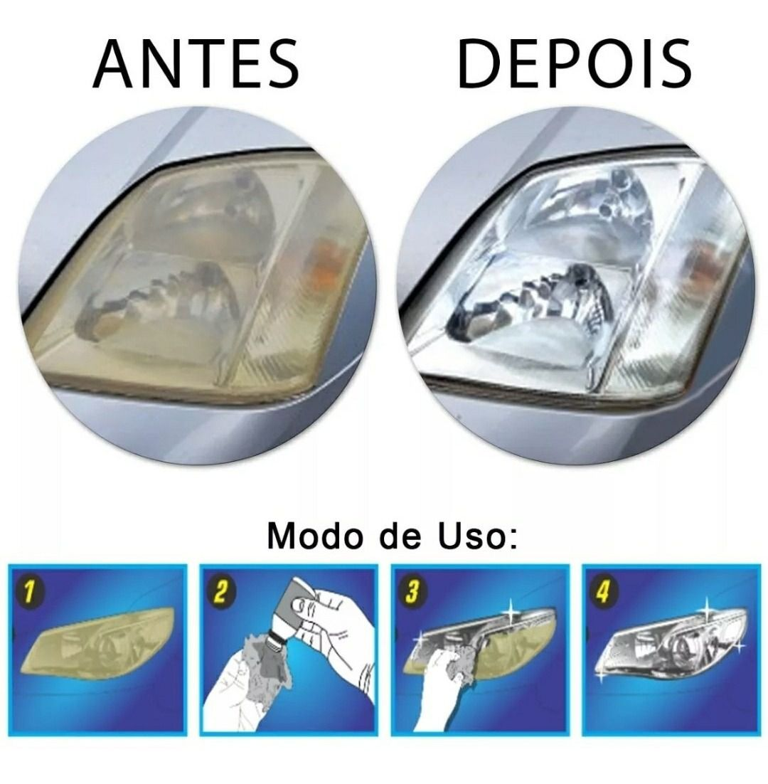 Revitalizador Líquido De Farol Novo Luxcar - Produto Original