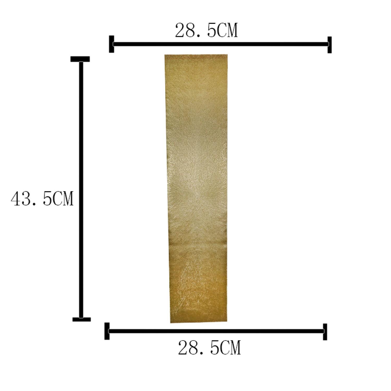 TRILHO DE PLÁSTICO TRENTO DOURADO 150x33cm Lyor