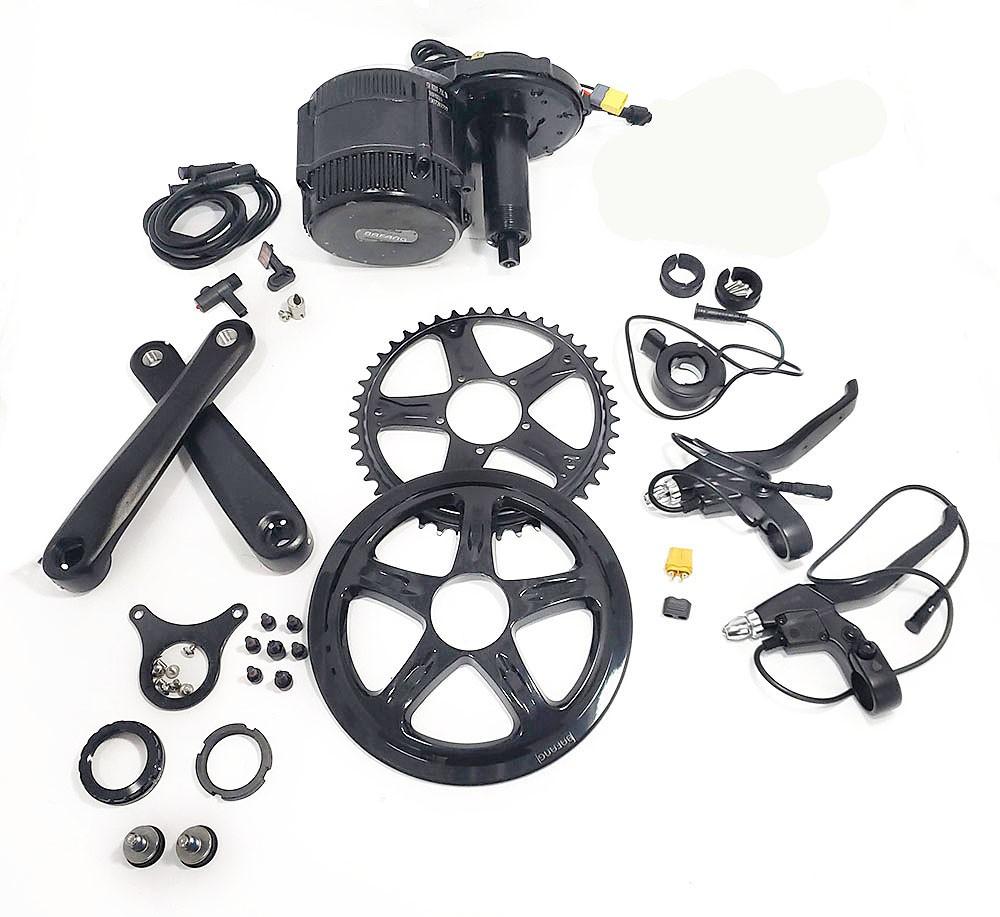 Kit Bafang 500w Kit Motor Central Com Bateria 450 Wh E-bike iPedal