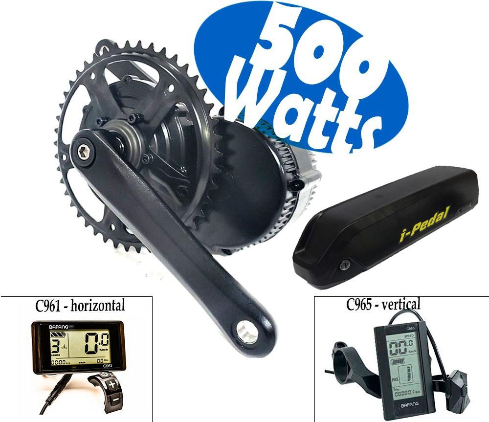 Kit Motor Central Bafang 500w C Bateria 450 Wh E-bike iPedal