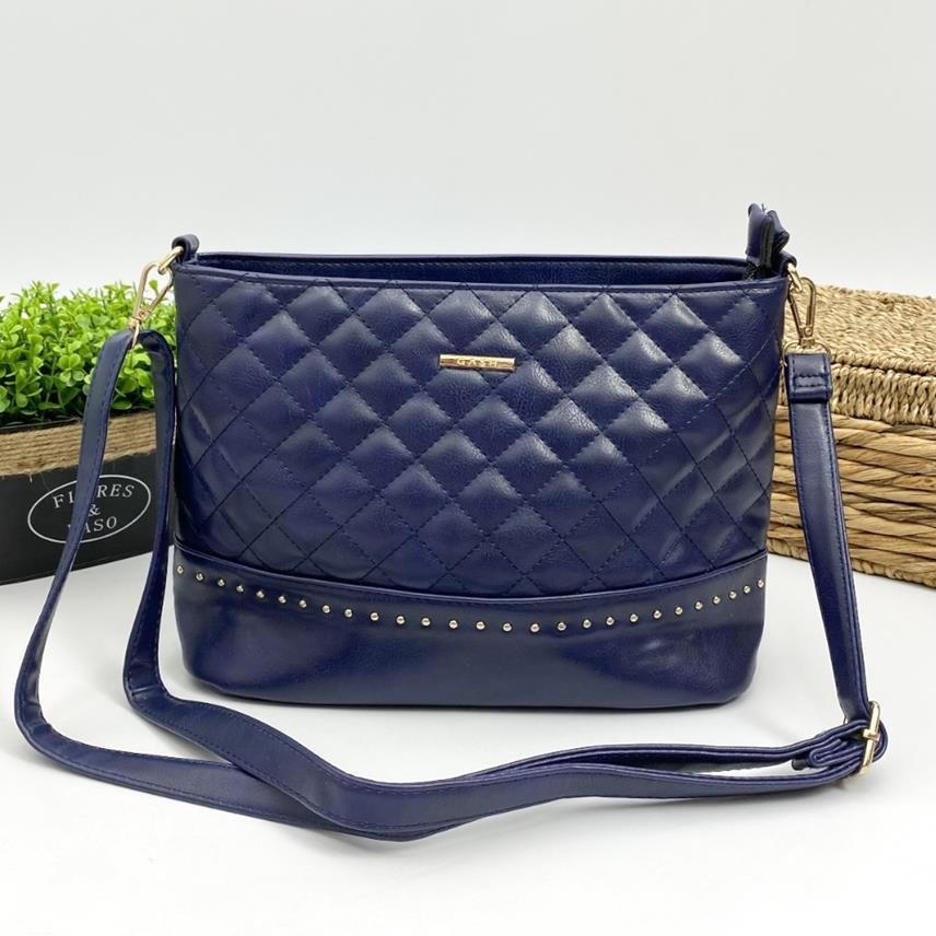 Bolsa Feminina Casual Matelassê Azul