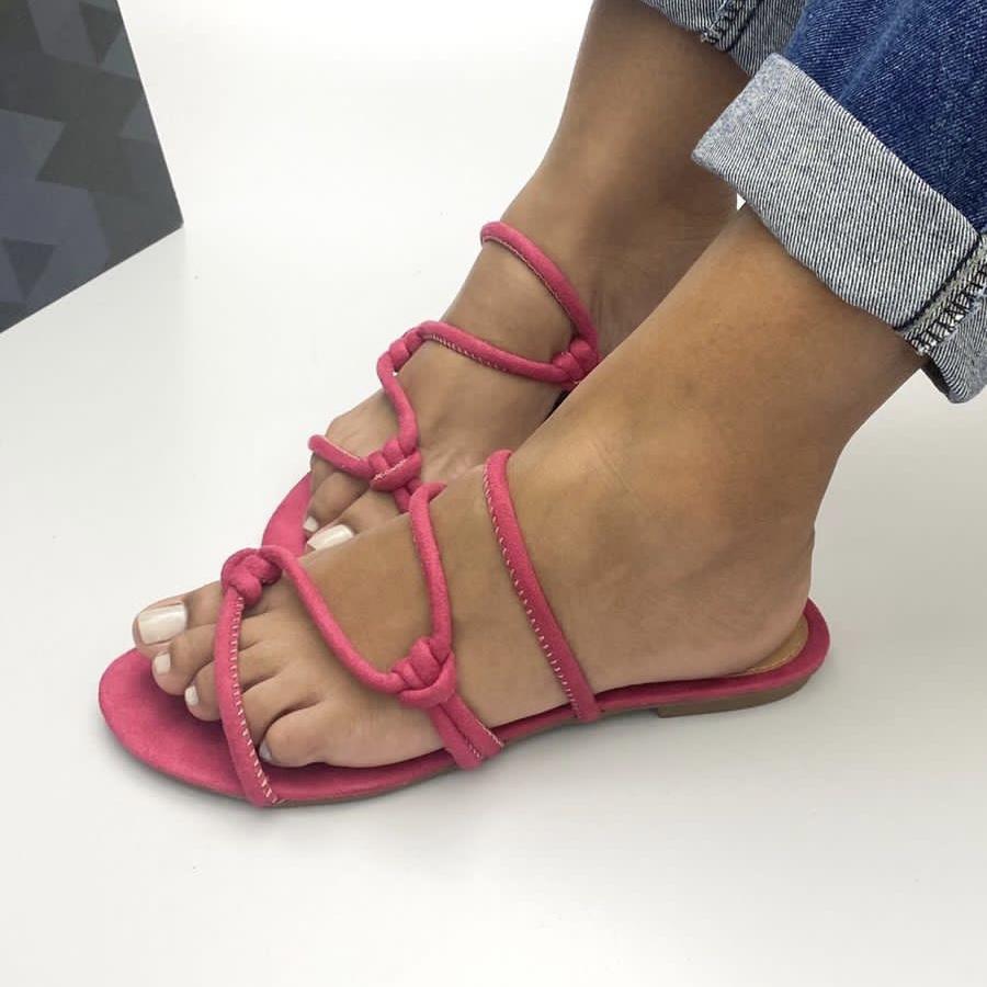 Sandalia Feminina Rasteira Basic Pink