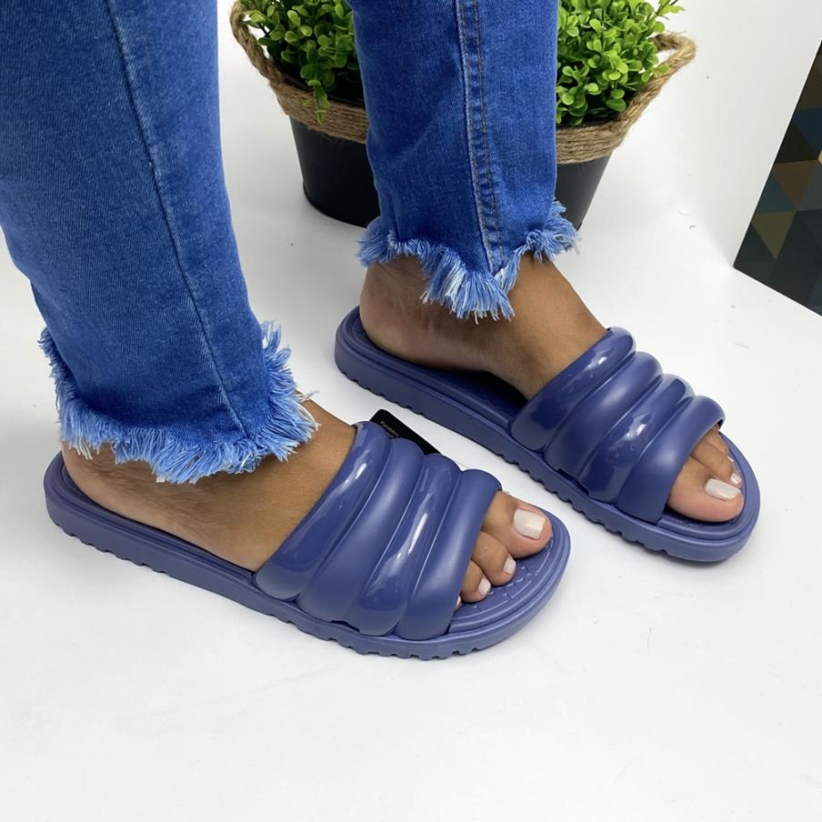 Sandália Feminina Slide Azul