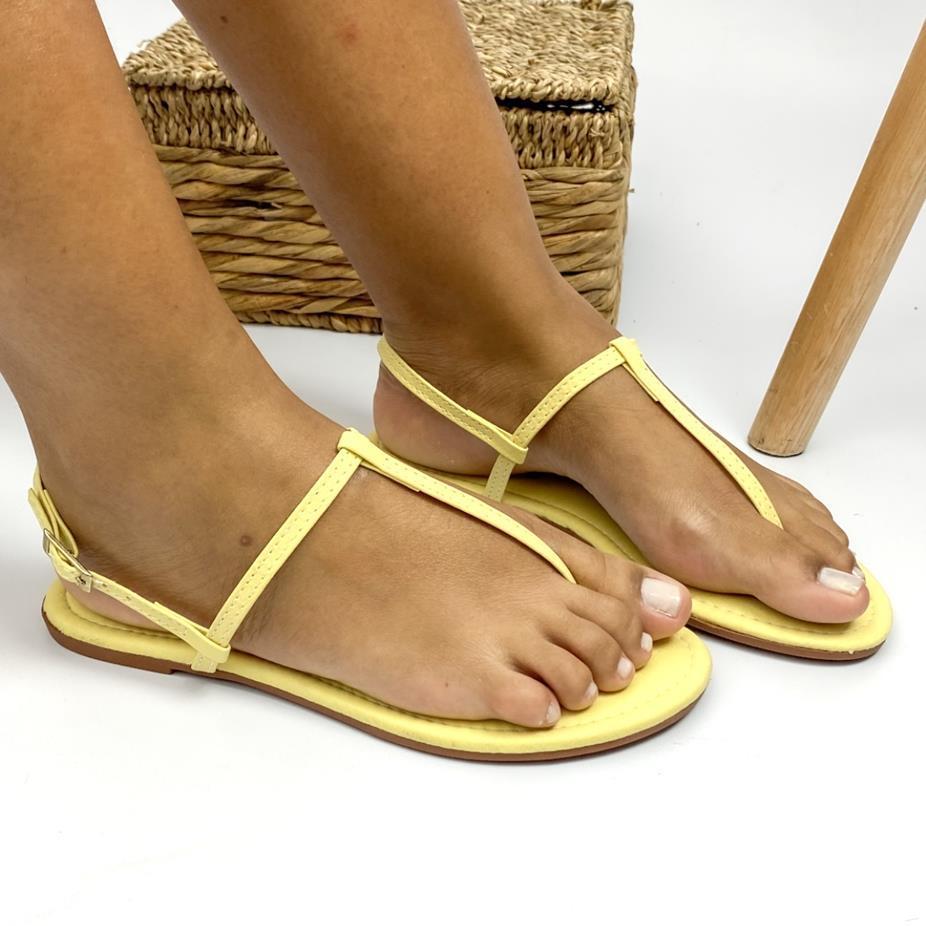 Sandália Feminina Rasteira Toe Sandal Amarela