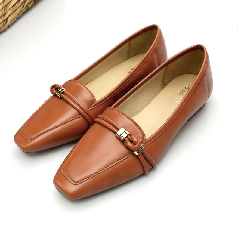 Sapato Feminino Mocassim Cor Telha