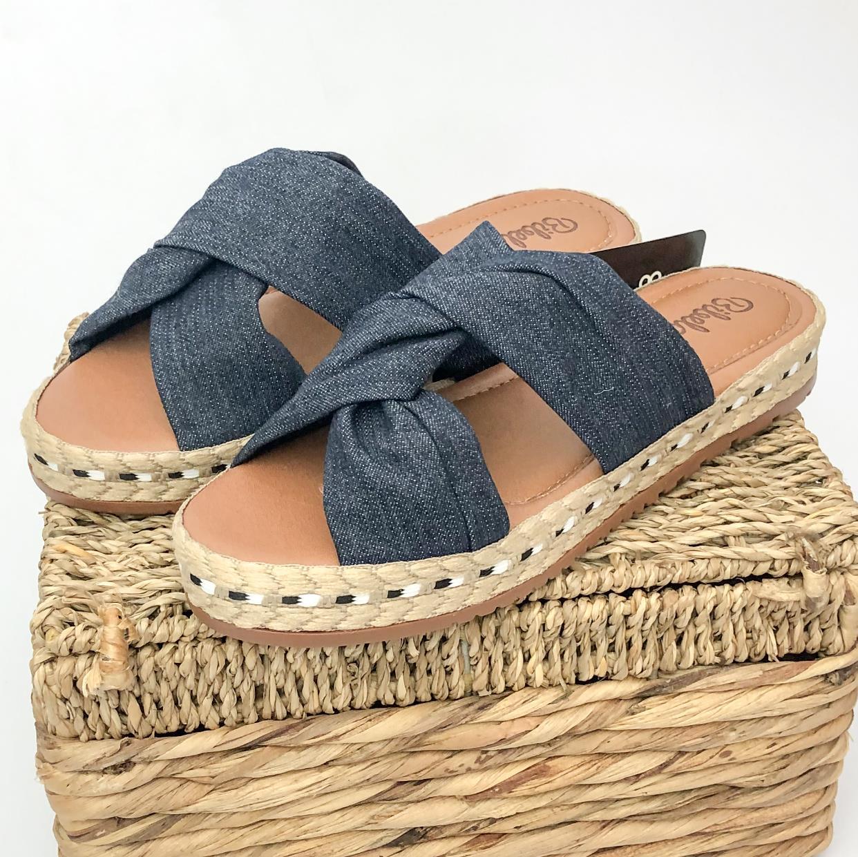 Tamanco Feminino Flatform Jeans
