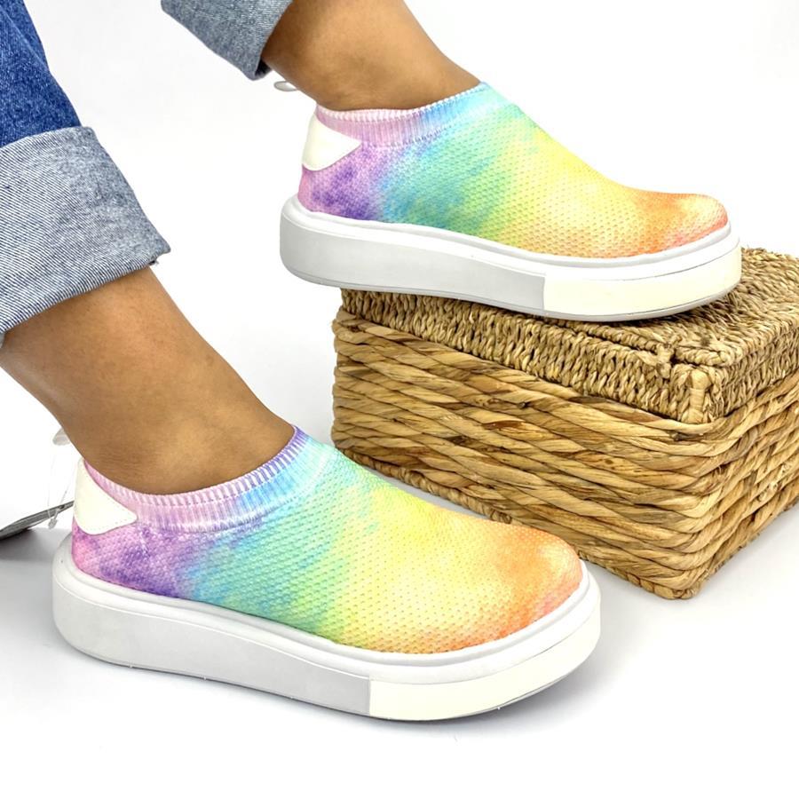 Tênis Feminino Without Shoelaces Tye Die
