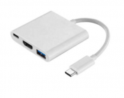 Cabo Adaptador Type-C Para USB 3.0 HDMI Fêmea e Type-C Fêmea
