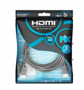 Cabo HDMI PIX 5m 2.0 4K 19 Pinos