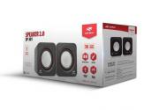 Caixa de Som Speaker 2.0 3W Preta C3Tech SP-301BK