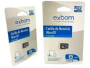 Cartão De Memória 8 GB Micro-SD TF Classe 6 EXBOM
