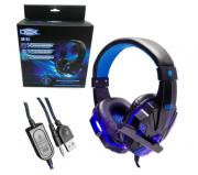 Headset Gamer Led Azul DEX DF-81