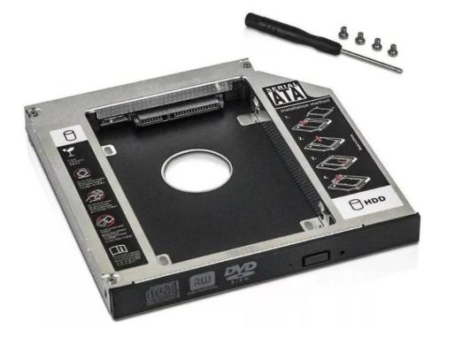 Adaptador Caddy Slim 12,7mm HD ou SSD 2,5 Sata Exbom