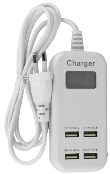 Carregador USB 4 Portas 5V BOYU