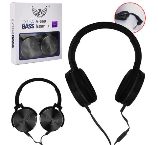 Fone de ouvido Extra Bass Ltomex A-669