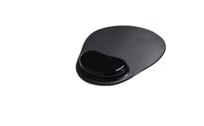 Mouse Pad Ergonômico Com Apoio em Gel Preto
