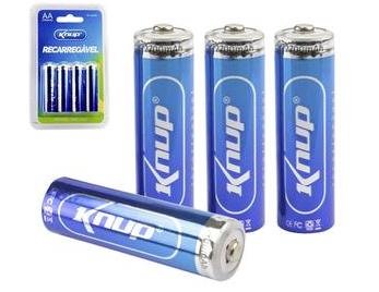 Pilhas Recarregável AA  2700mAh Knup
