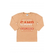 Camiseta Manga Longa Camp Marrom Marlan